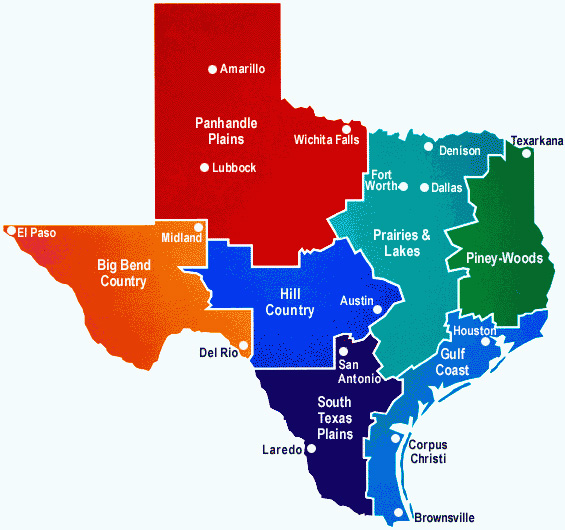 texas regions coloring pages - photo#50